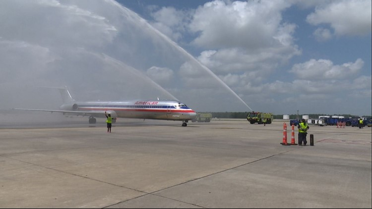 Sgt. Hall's remains arrive at Bush Airport on Tuesday, July 3, 2018.