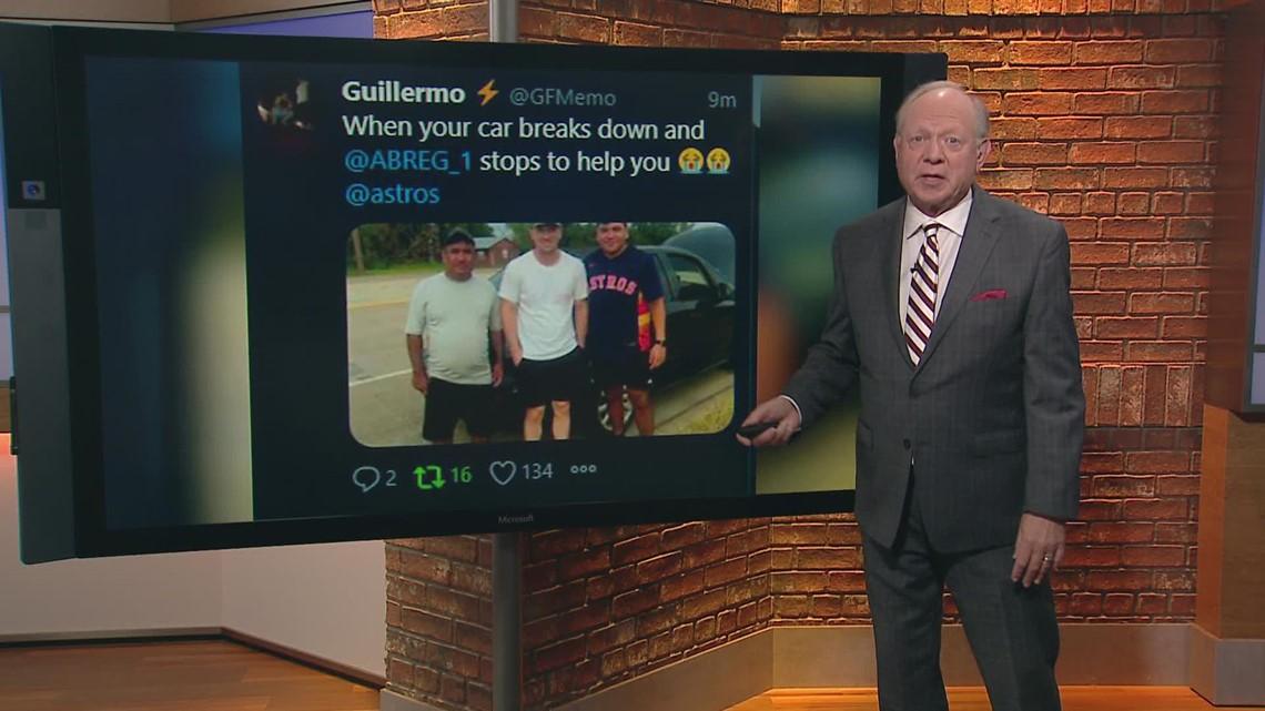 Astros' Alex Bregman lends a hand to stranded driver