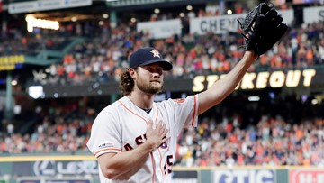 Cole reaches 300 Ks for season, Astros beat Rangers 3-2