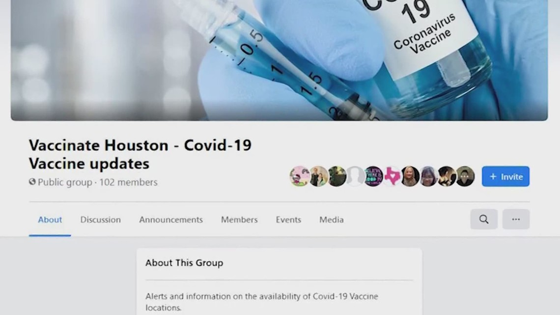 Website has links and information for getting the COVID-19 vaccine in the Houston area
