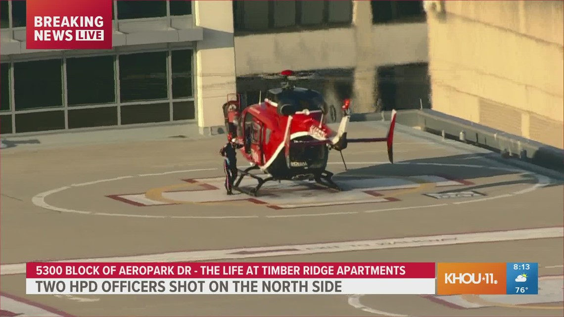 WATCH: Life Flight transports wounded Houston police officer to Texas Medical Center