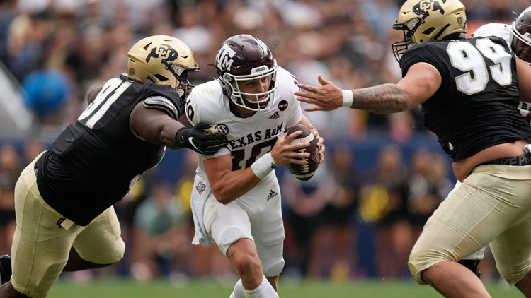 Texas A&M slips past Colorado with late score