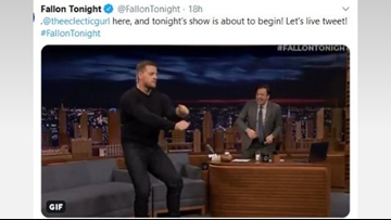 Hot wings and hot dance moves: J.J. Watt on fire for Jimmy Fallon