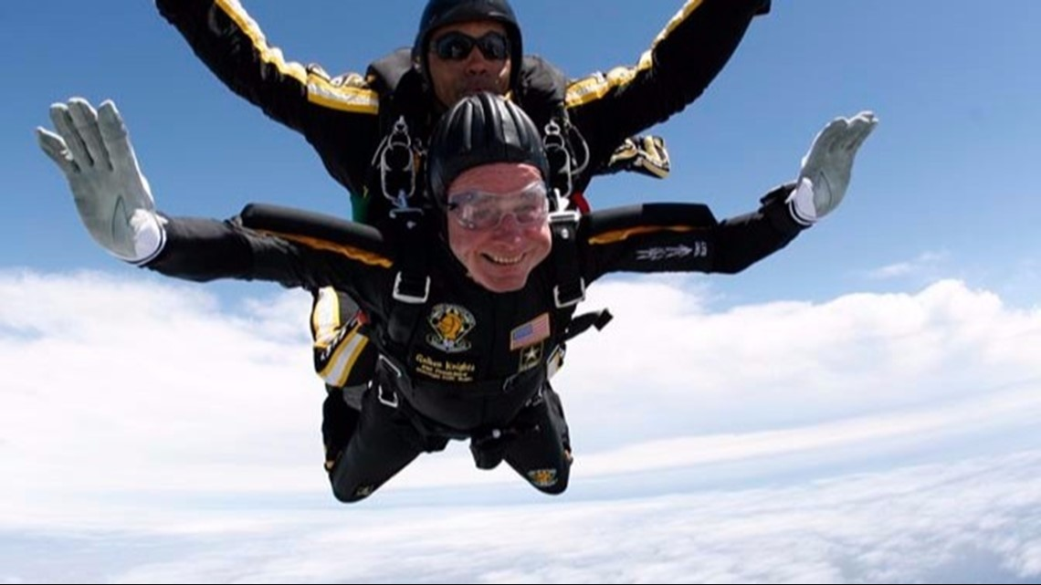 Image result for george h w bush skydiving