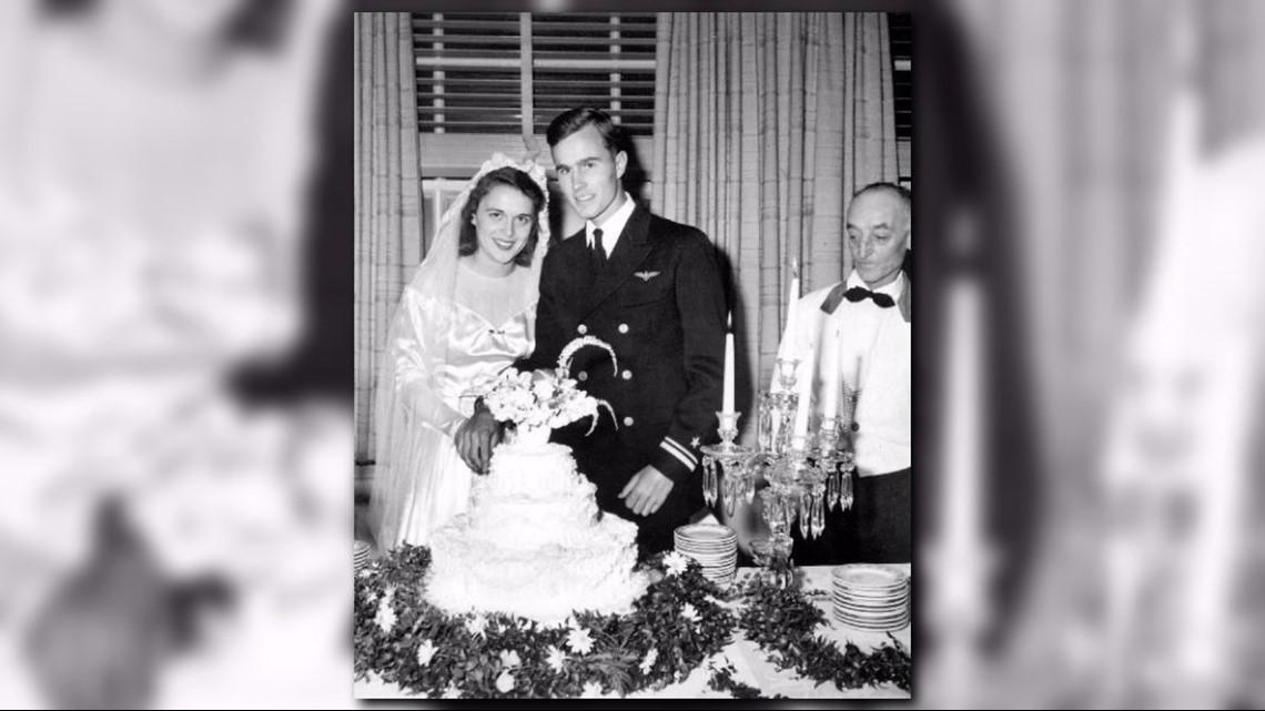 Photos Wedding Of George H W Bush Barbara Bush Khou Com