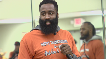 James Harden, his mother team up with Houston churches to provide Thanksgiving dinners for less-fortunate families