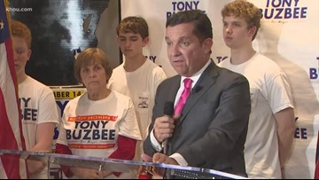 Tony Buzbee stops short of conceding, but tells supporters it doesn't look good