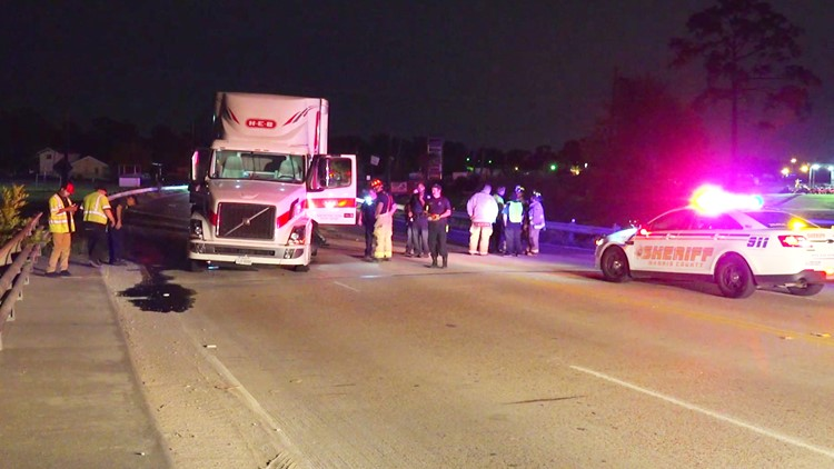 Investigators believe it was about 2:30 a.m. when the big rig was traveling westbound in the 13000 block of Wallisville.