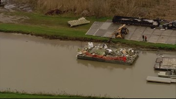 RAW VIDEO: Aerial view of deadly cargo plane crash in Chambers County