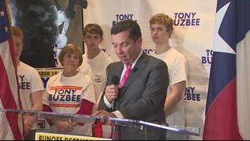 Tony Buzbee addresses supporters