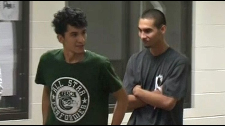 Diego Alexander Hernandez-Rivera, 18, and Miguel Angel Alvarez-Flores, 22, are charged with murder and kidnapping