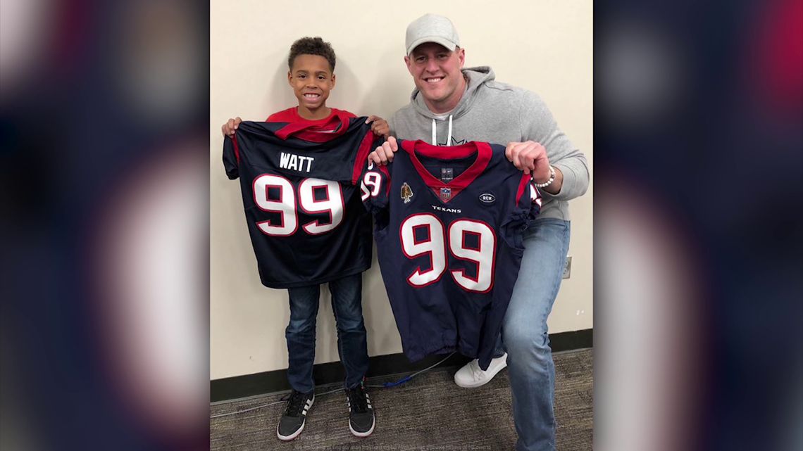J.J. Watt personally delivers jersey to Cy-Fair ISD student
