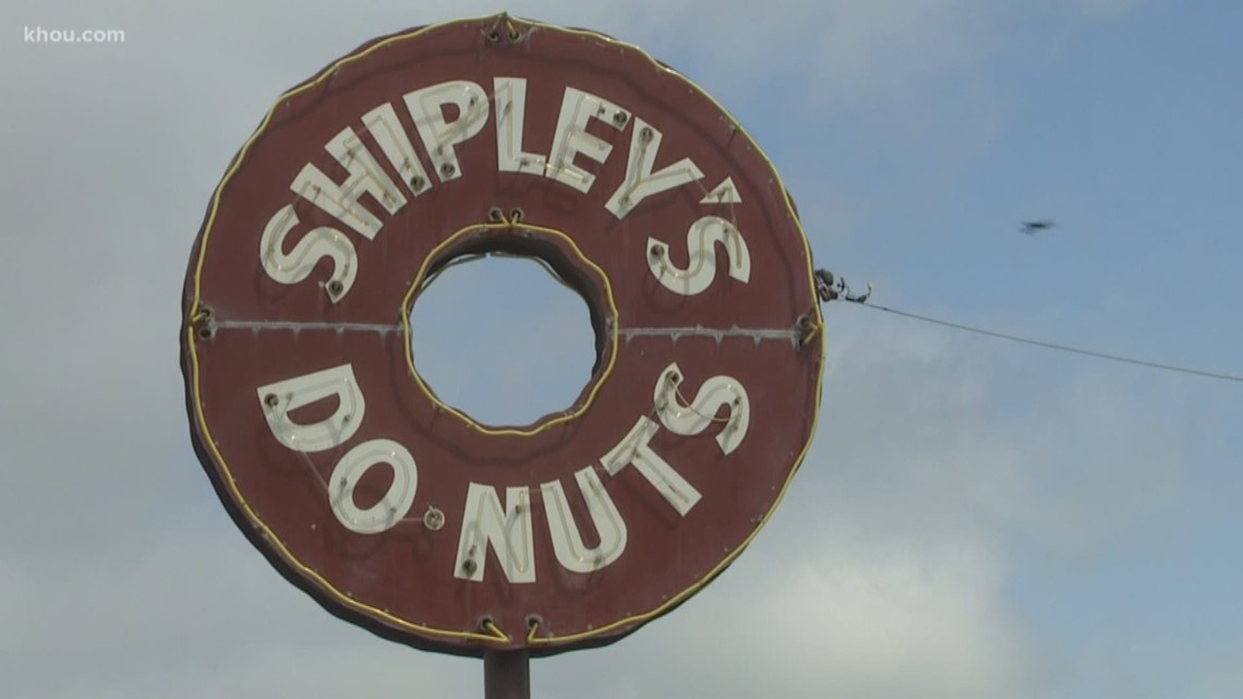 The Shipley's on Ella is a Shipley Do-nuts franchise. But their sign is misspelled.