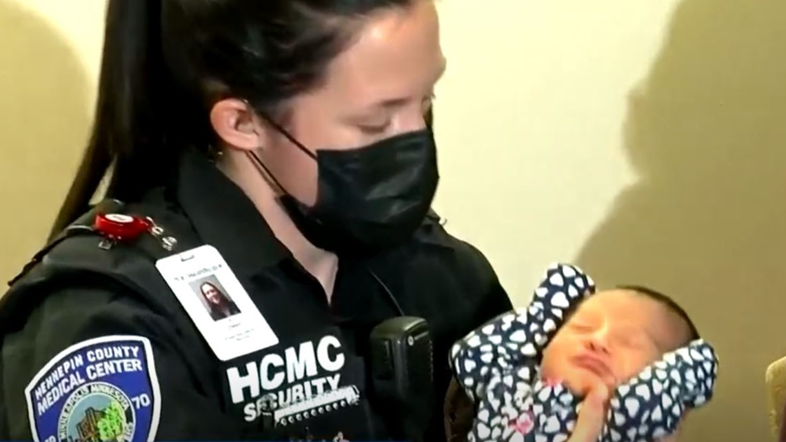 Parents name baby girl after the security officer who helped deliver her