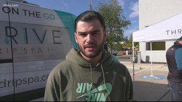 Lance McCullers' turkey giveaway at Big Brothers Big Sisters