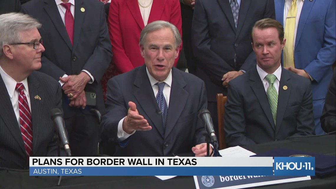 Gov. Greg Abbott lays out plans for border wall in Texas