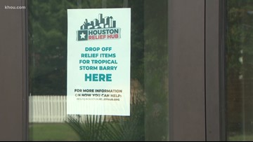 Houston Relief Hub activates donation center to help Barry victims