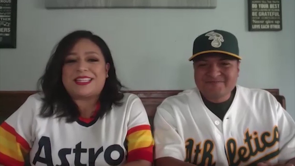 House divided: Couple split over Astros-Athletics game