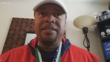 Stranded coach of women's football team back in Houston