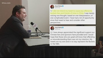 Rockets general manager Daryl morey faces backlash after tweet