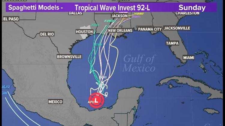 Gulf update: Tropical disturbance has 90% chance of development