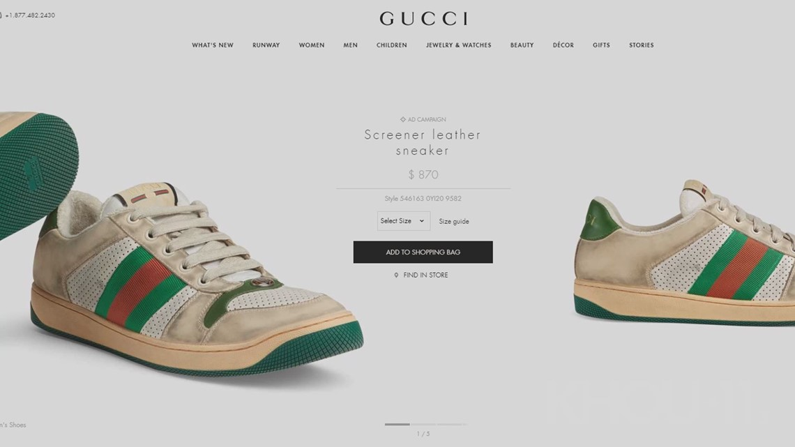 f23ae8d438c Gucci is selling dirty sneakers for nearly  900
