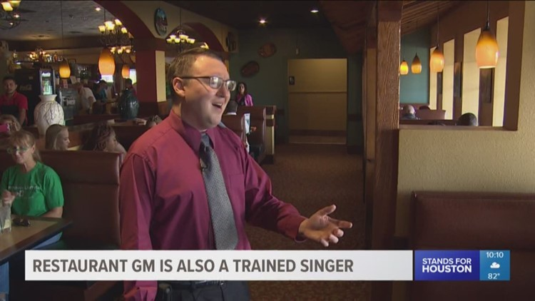 restaurant general manager is also a trained singer