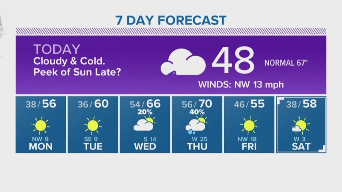 Houston Forecast: Chilly, 40 degree temps all day Sunday