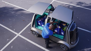 Kroger's driverless grocery delivery coming to Houston