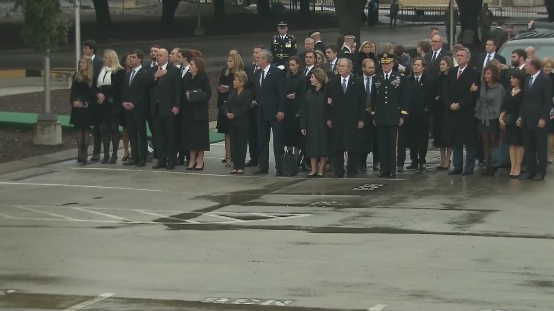 Watch: George H.W. Bush carried off 'Locomotive 4141'