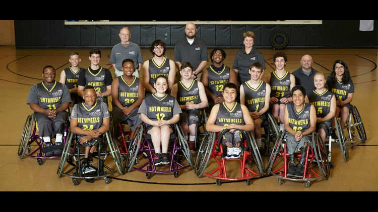TIRR Memorial Hermann Junior Hotwheels basketball team