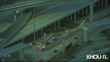 Raw Video: Construction worker dies after falling off Beltway 8 overpass  near Highway 288