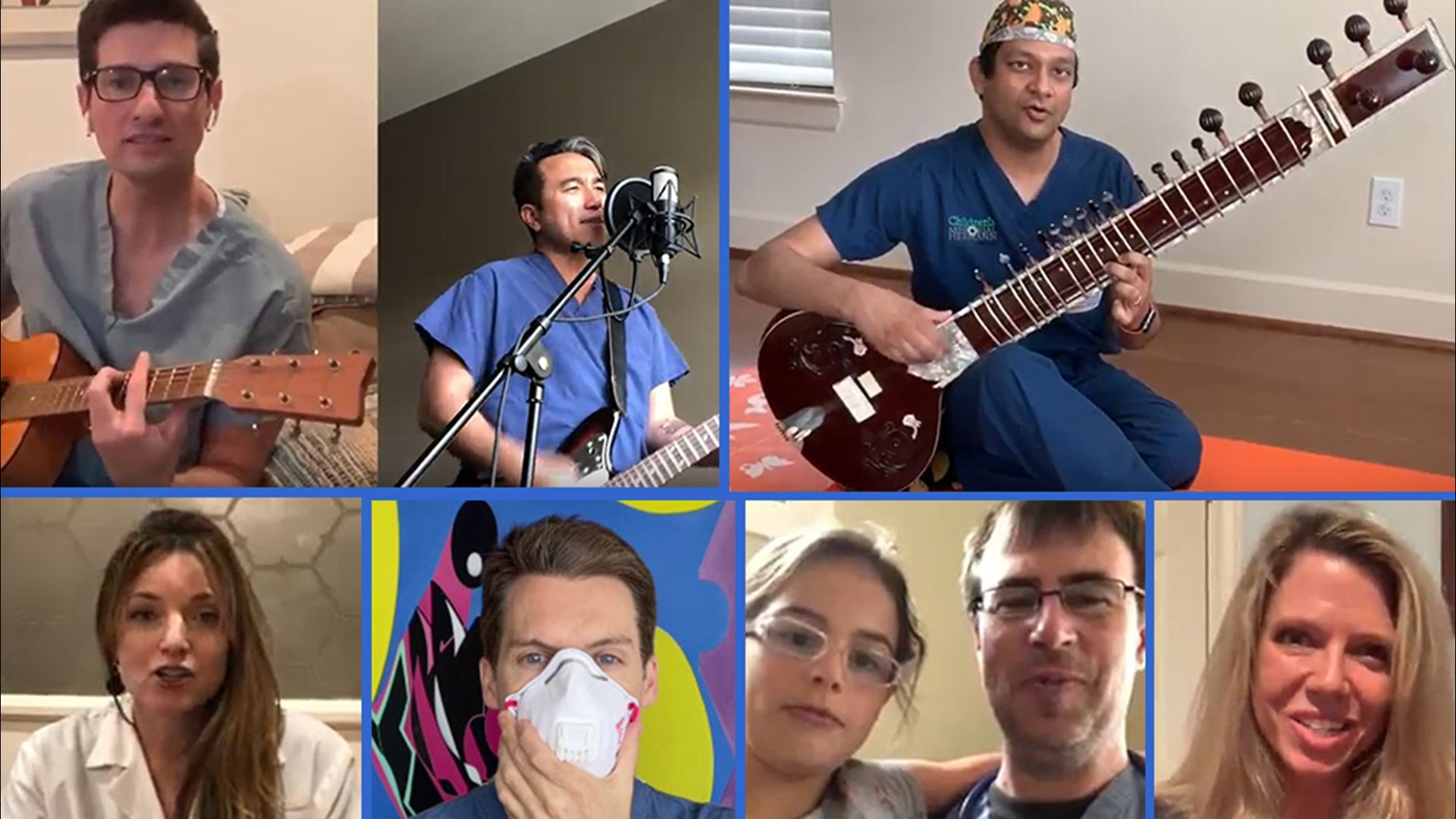 Houston Doctors Send Musical Message Stay At Home Help A Doctor