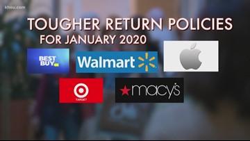 Stores begin tightening their return policies