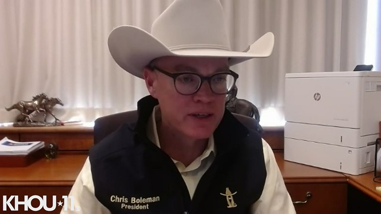 Houston Livestock Show & Rodeo CEO Chris Boleman talks about the tough decision to cancel
