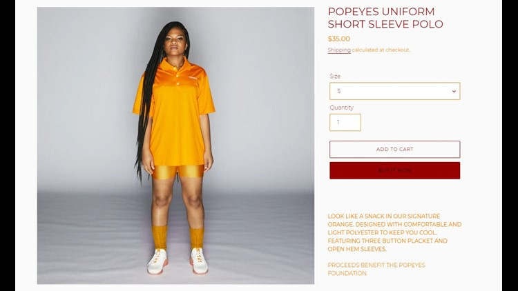 Popeyes uniforms for sale