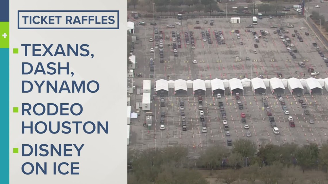 Raffle for tickets, prizes offered to those who get COVID-19 vaccine at NRG Park