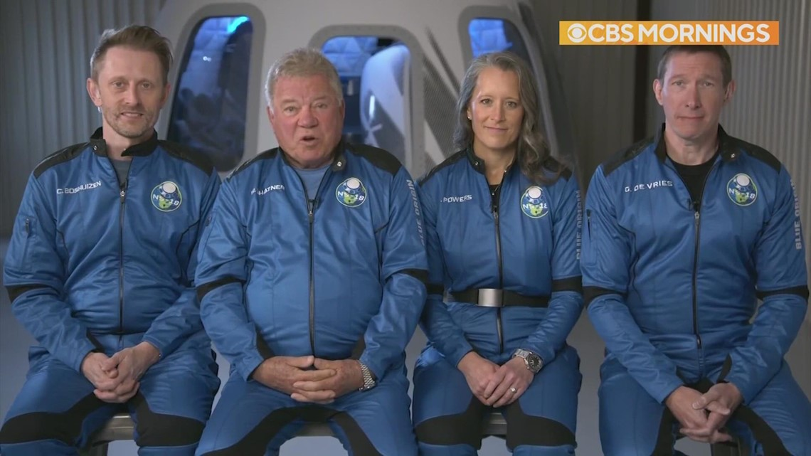 William Shatner, three others heading to space with Blue Origin