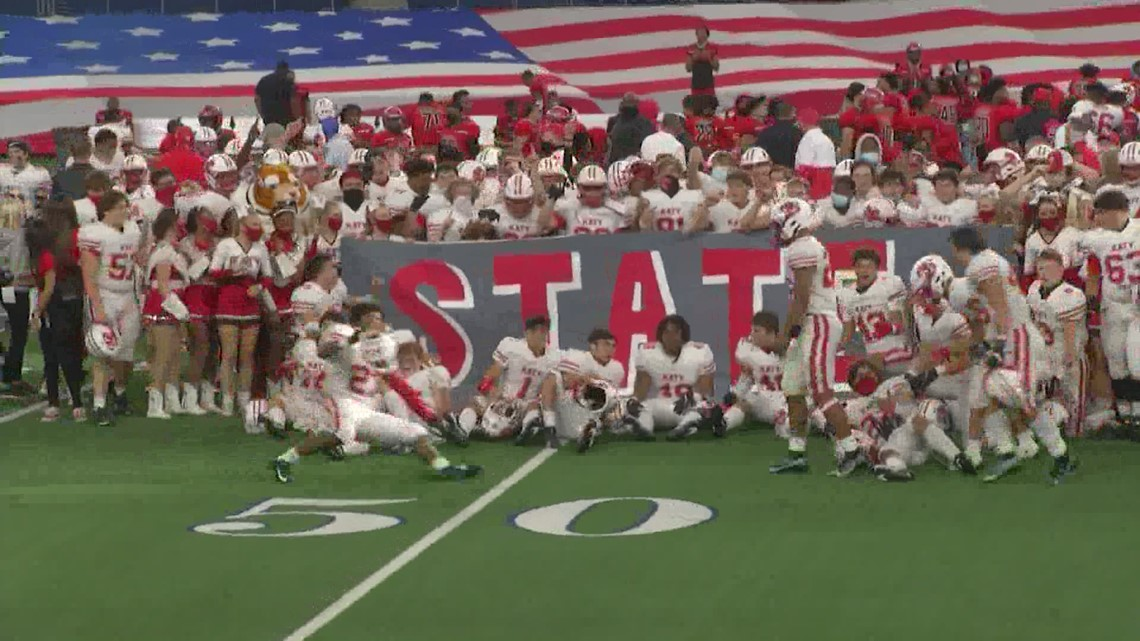 Katy routs Cedar Hill to claim ninth state football title