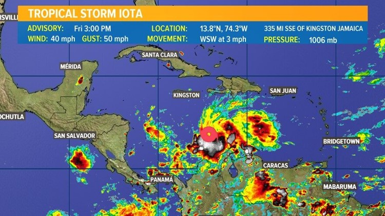 Tropical Storm Iota becomes record 30th named storms during Atlantic hurricane season