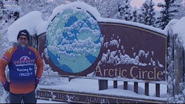 Kevin Kline, of the New 93Q, training for run in the Artic Circle