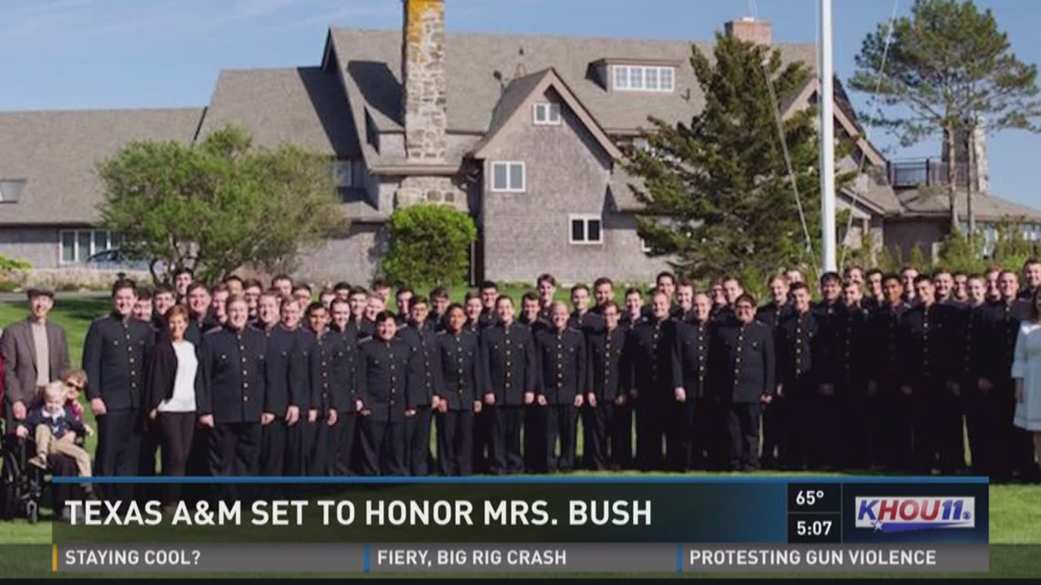 Hundreds Of A M Cadets Expected To Honor Barbara Bush In Song Khou Com
