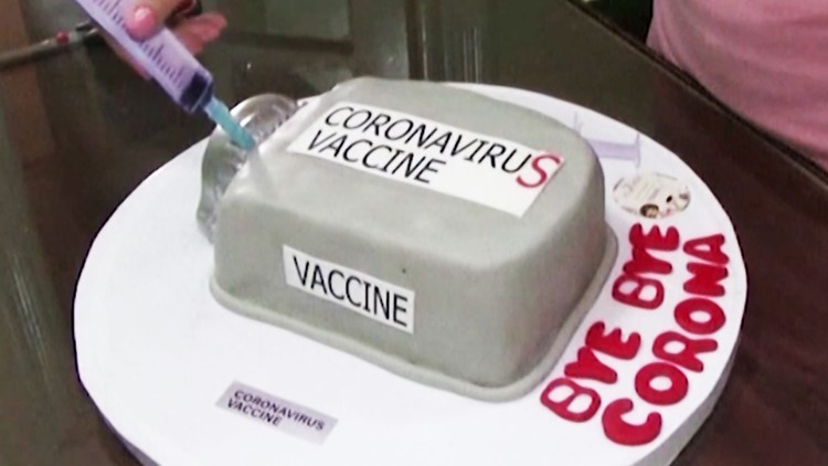 This COVID vaccine won't protect you, but it sure tastes sweet. It's actually cake!