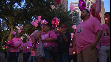 Family of little girl found dead in closet speak out at vigil