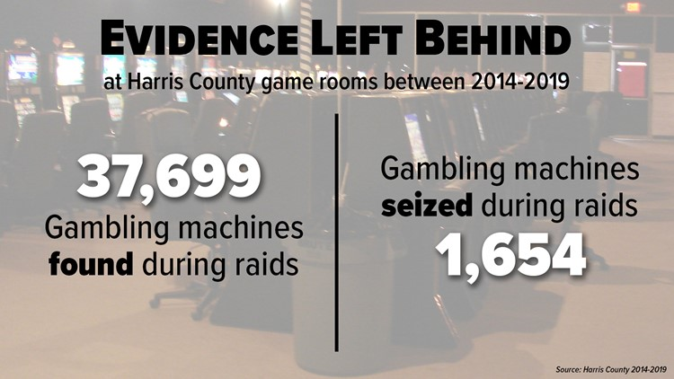 Harris County game room raids evidence left behind
