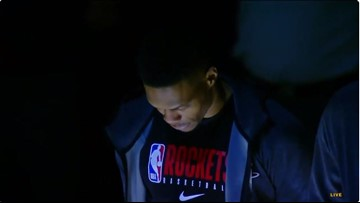 Houston Rockets, Denver Nuggets hold moment of silence for Kobe Bryant