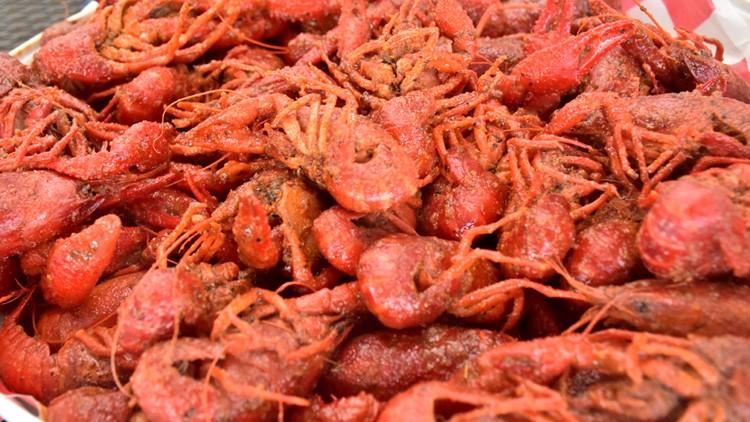 Freshly cooked crawfish. Yum!