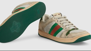 Gucci's $870 dirty sneakers come with cleaning instructions