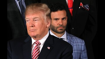 Astros' Altuve responds to viral image from White House visit