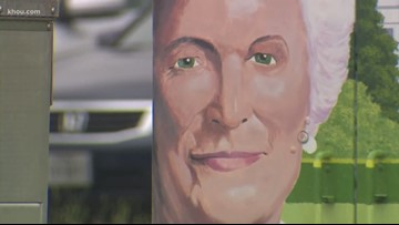 North side mural honors former first lady Barbara Bush one year after her death